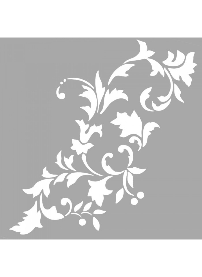 Standart Artikel Riviera Çiçek Motif Stencil Tasarımı 30 x cm